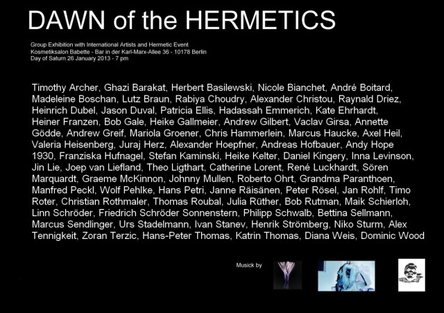 DAWN of the HERMETICS verso