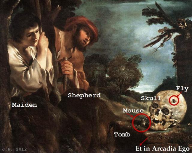 Guercino's Et in Arcadia Ego